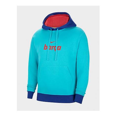 Nike FC Barcelona Fleece-Hoodie für Herren - Oracle Aqua/Deep Royal Blue/Light Fusion Red - Herr