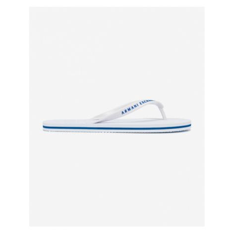 Armani Exchange Flip-Flops Weiß