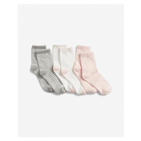 GAP Socks 3 pcs kids Weiß Grau