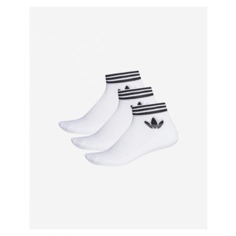 adidas Originals Trefoil Ankle 3 Paar Socken Weiß