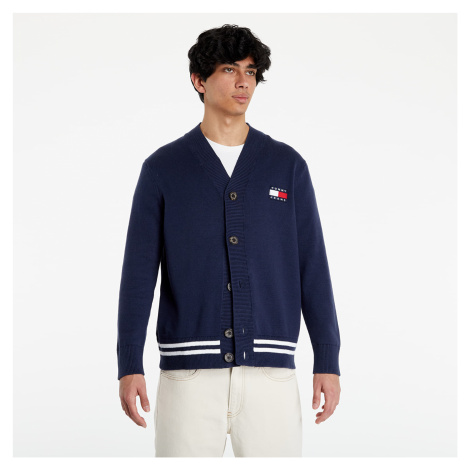 Tommy Jeans Badge Texture Cardigan Twilight Navy Tommy Hilfiger