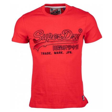 Superdry DOWNHILL RACER APPLIQUE TEE rot - Herrenshirt