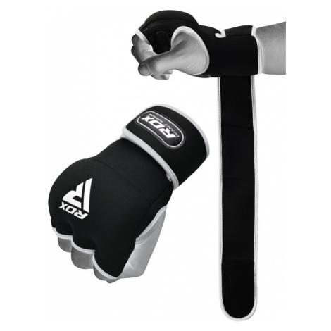 RDX X8 Boxen Gel-Innenhandschuhe mit Handgelenksband Weiß