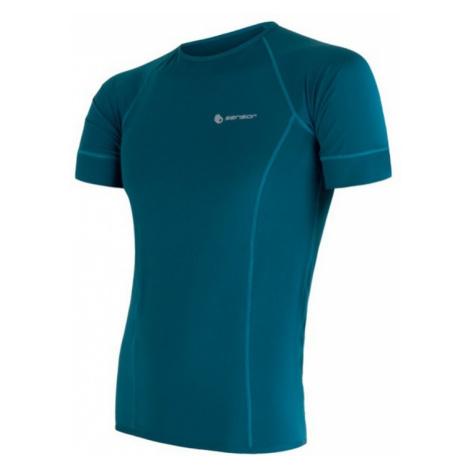 Herren T-Shirt Sensor Coolmax Fresh saphir 17100003
