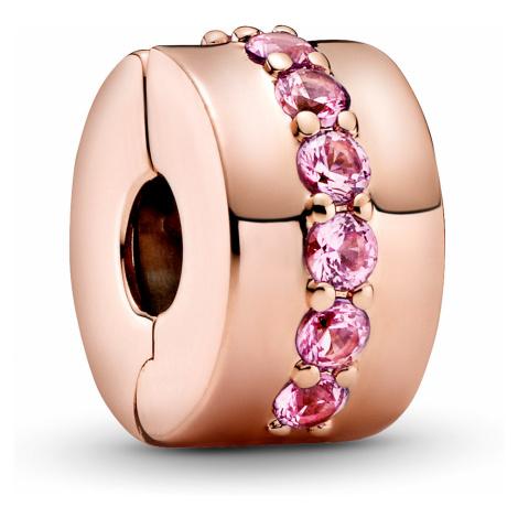 Pandora 781972CO1 Rose Clip-Element Rosafarbene Funkelnde Linie Clip