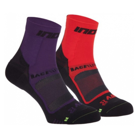 Socken Inov-8 RACE ELITE PRO SOCK 000847-PLBKRDBK-01 violet a red