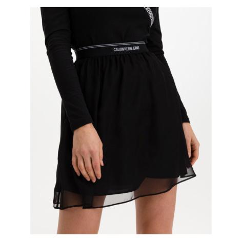 Calvin Klein Logo Waistband Mini Skirt Schwarz
