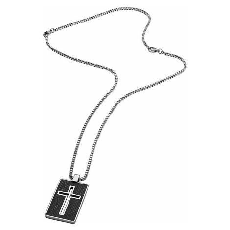Police PJ26385PSS.01 Halskette Noss Kreuz 70cm, verstellbar