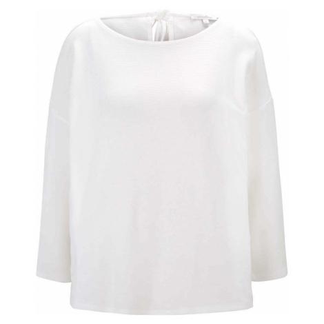 TOM TAILOR DENIM Damen Strukturiertes Boxy-Shirt, weiß