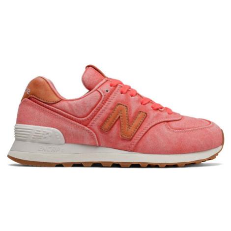 New Balance WL574WTR rot - Damen Sneaker