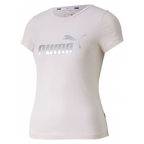 Puma ESS+TEE G weiß - Mädchen Trainingsshirt