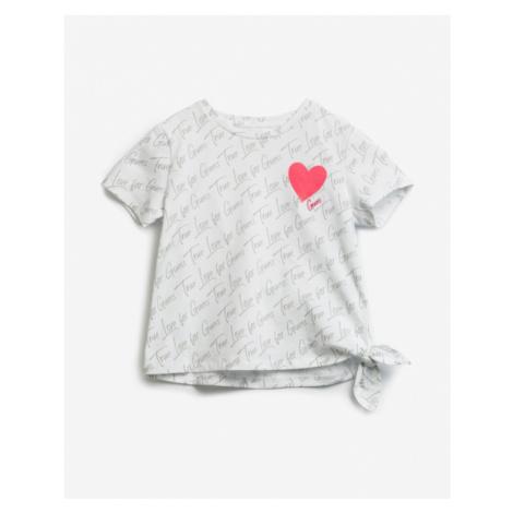 Guess Knot Kinder  T‑Shirt Weiß