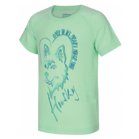 Kinder T-Shirt Husky Zingl Kids hell. minze