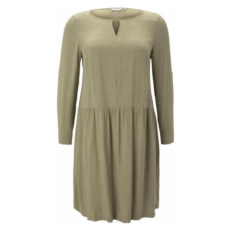 TOM TAILOR MY TRUE ME Damen Meliertes Blusenkleid, grün