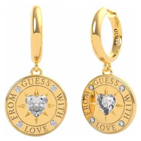 Guess JUBE70027JW Damen-Ohrhänger Coin Ohrringe Goldfarben
