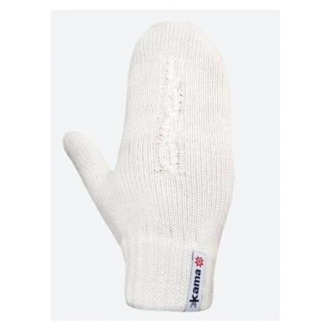 Gestrickte Merino Handschuhe Kama R105 101 natural white