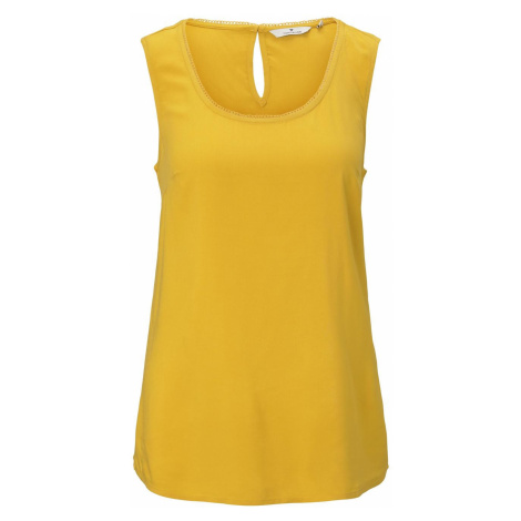 TOM TAILOR Damen Fließende Bluse , gelb