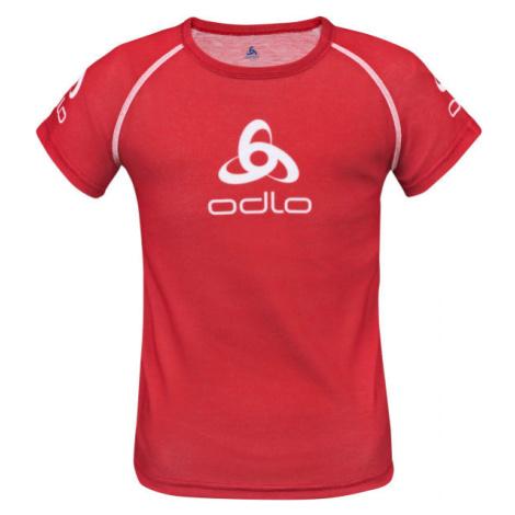 Odlo SUW KID'S TOP CREW NECK S/S ORIGINALS LIGHT rot - Kinder T-Shirt
