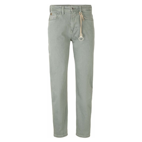 TOM TAILOR DENIM Herren Loose Fit Jeans, grün