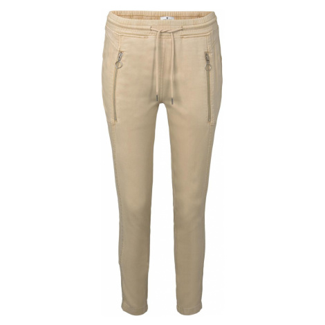 TOM TAILOR Damen Lockere Hose mit elastischem Bund, beige, unifarben