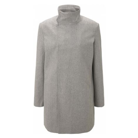 TOM TAILOR DENIM Herren Asymmetrischer Mantel mit Stehkragen, grau