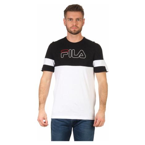 Fila T-Shirt Herren JADON BLOCKED TAPE TEE 683257 Schwarz Weiß E08 Bright White Black