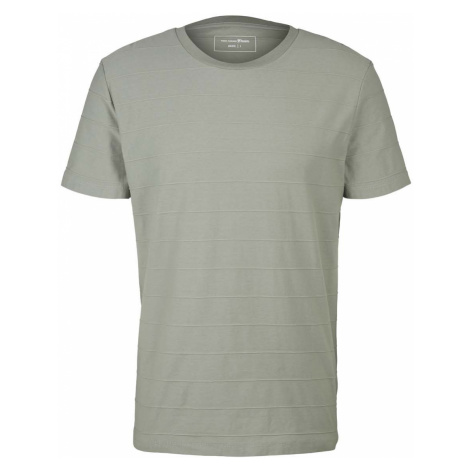 TOM TAILOR DENIM Herren strukturiertes T-Shirt, grün