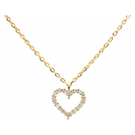 P D Paola CO01-220-U Damen-Kette Weißes Herz Goldfarben