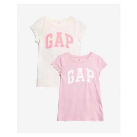 GAP Kids T-shirt 2 pcs Rosa Weiß