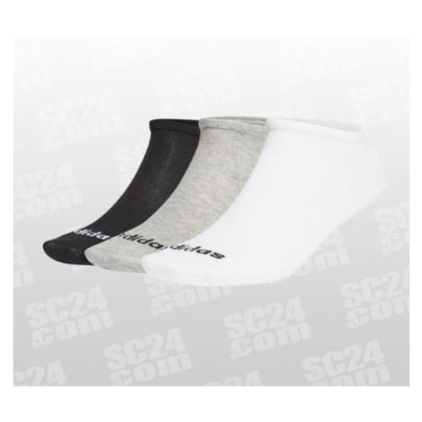 Adidas Low Cut Sock 3PP grau/schwarz Größe 40-42