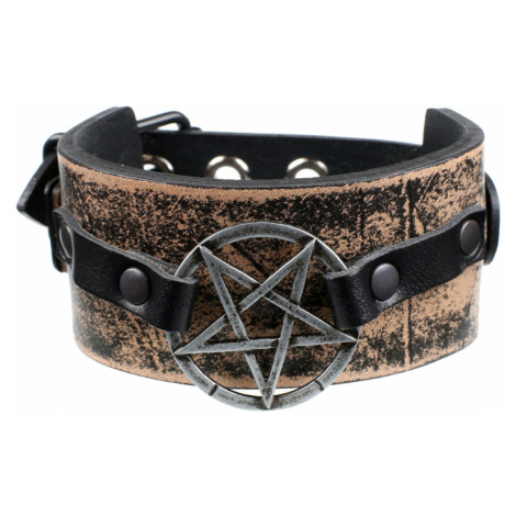 Armband Pentagramm - brown - LSF1 54