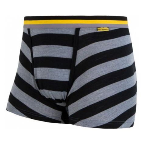 Herren shorts Sensor Merino Active black Streifen 16200096