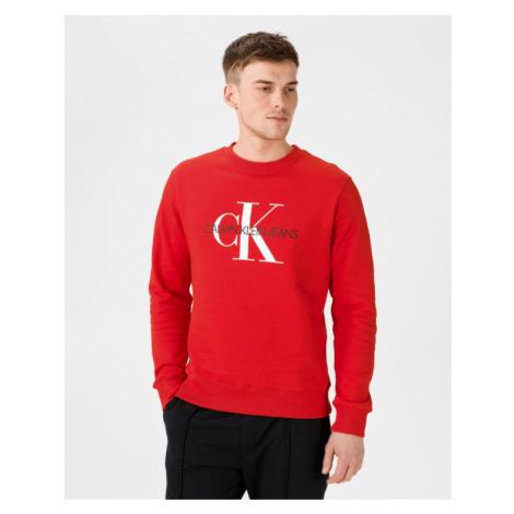 Calvin Klein Monogram Sweatshirt Rot