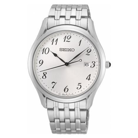 Seiko SUR299P1 Herren-Armbanduhr mit Saphirglas und Stahlband
