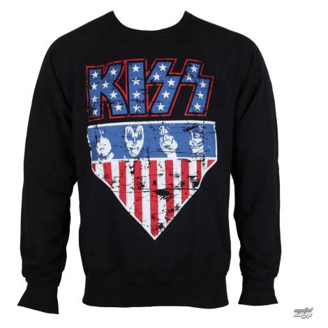 Sweatshirt ohne Kapuze Männer Kiss - Stars & Stripes - HYBRIS - ER-3-KISS010-H71-3-BK XXL