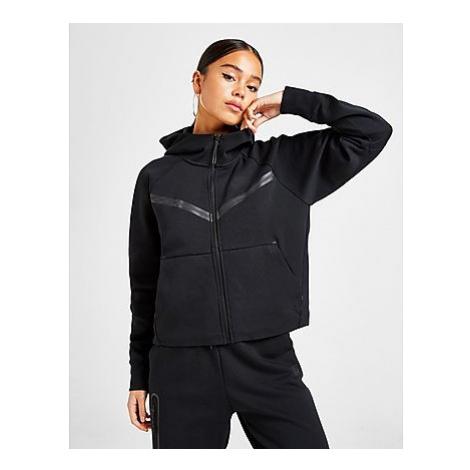 Nike Tech Fleece Hoodie Damen - Black/Black, Black/Black
