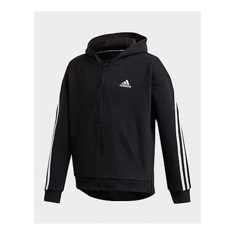 Adidas 3-Streifen Kapuzenjacke - Black / White, Black / White