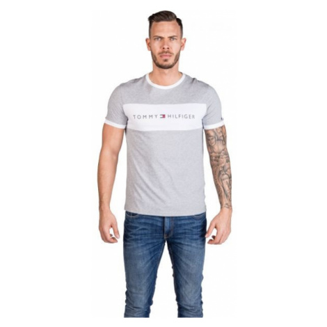 Tommy Hilfiger CN SS TEE LOGO FLAG grau - Herrenshirt