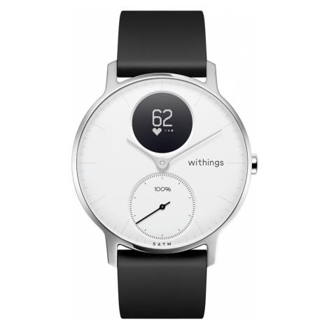 Withings Steel HR, 36mm, Weiß - Hybrid Smartwatch - Herzfrequenzmessung, Smart Notifications - O