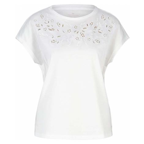 TOM TAILOR Damen T-Shirt mit Bio-Baumwolle, weiß