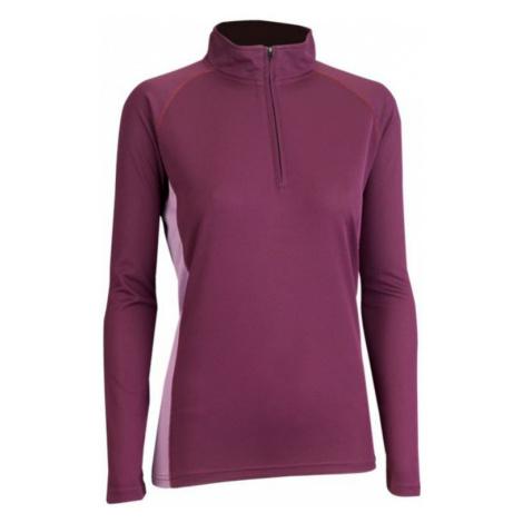 Damen T-Shirt TrekMates Zip Top violet