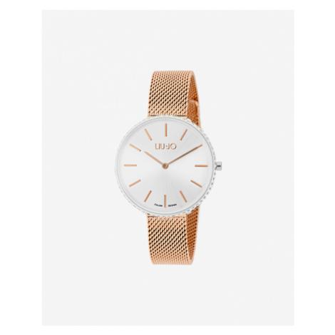 Liu Jo Glamour Globe Maxi Armbanduhr Silber Beige