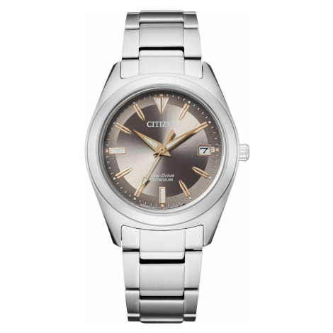 Citizen FE6150-85H Eco-Drive Damenuhr Titan Anthrazit