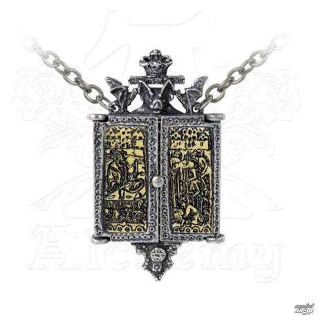 Halskette mit Anhänger ALCHEMY GOTHIC - Balkan Triptych Icon Locket - P826
