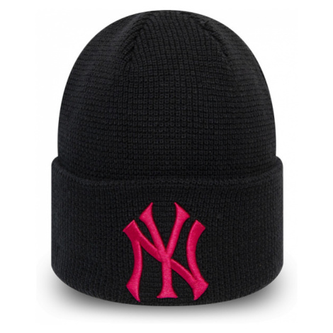 New Era MLBWMNS LEAGUE ESSENTIAL CUFF KNIT NEW YORK YANKEES schwarz - Damen Wintermütze
