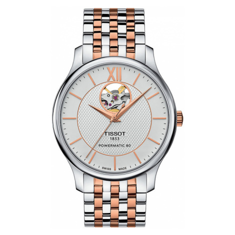 Tissot Unisexuhr Tradition Automatic Open Heart T0639072203801