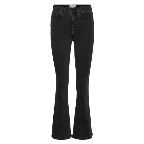 Noisy May Damen Jeans Nmsallie Hw Flare Vi069Dg - Flare Fit - Grau - Dark Grey