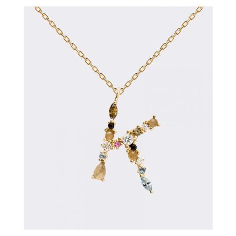 PD Paola Buchstabe K Halskette Gold