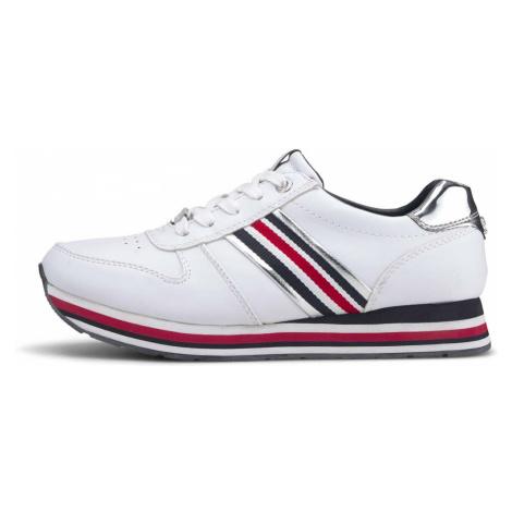 TOM TAILOR DENIM Damen Sneaker mit Plateaubsatz, weiß