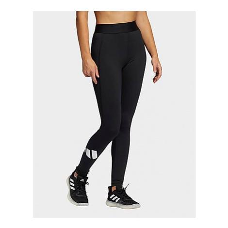 Adidas Techfit Life Mid-Rise Badge of Sport Lange Tight - Black / Black / White - Damen, Black /